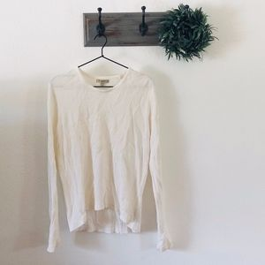 Burberry White Waffle Knit Thermal Top S